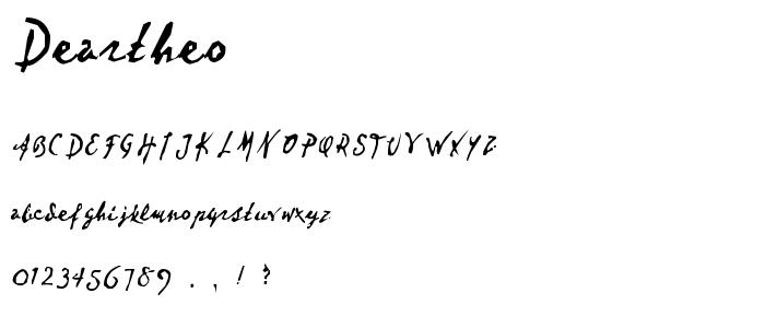 Deartheo font