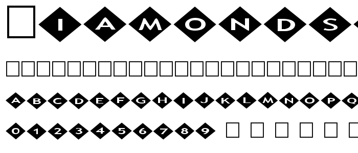 Diamonds2 font