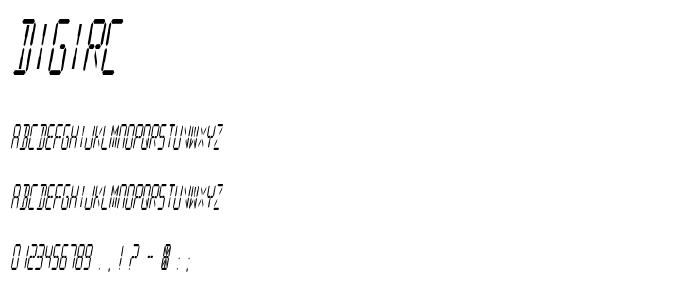 Digirc font