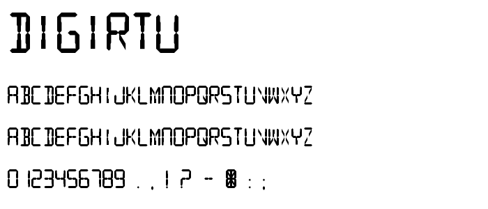 Digirtu font