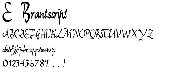 E_BrantScript.ttf font