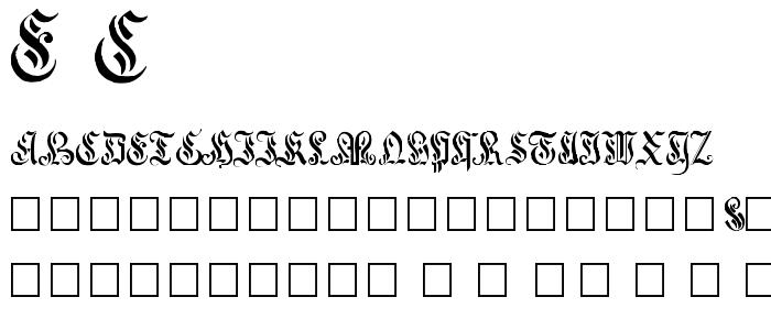 E C font
