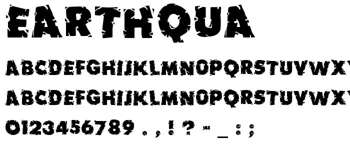 Earthqua.ttf font