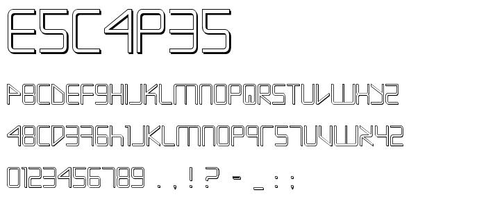 Escapes font