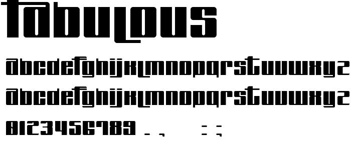 FABULOUS.TTF font