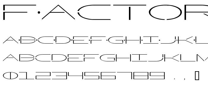 Factor2 font