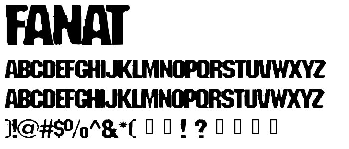 Fanat font