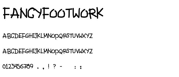 Fancyfootwork font