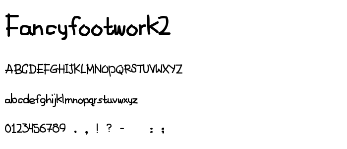 FANCYFOOTWORK2.ttf font