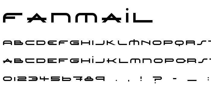 Fanmail font