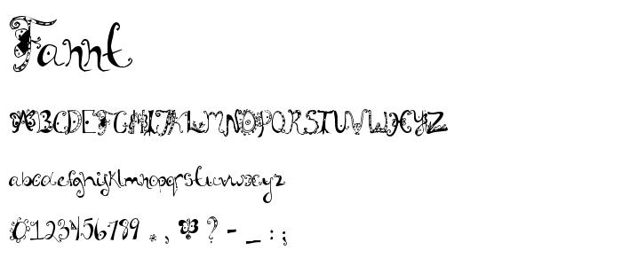 Fannt font