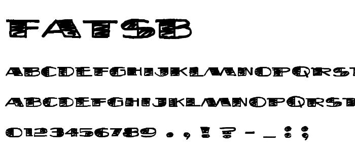 Fatsb font