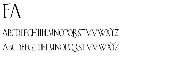 FA______.TTF font
