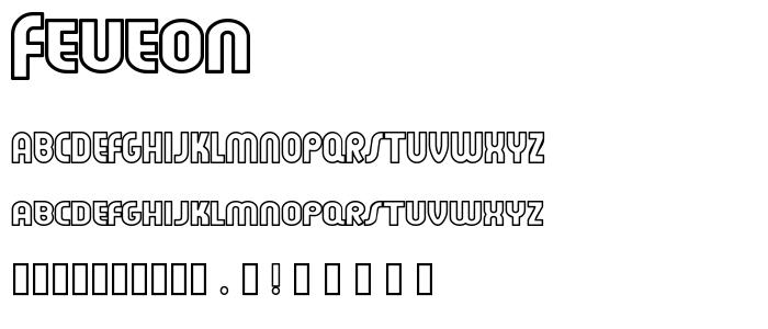 Feueon font