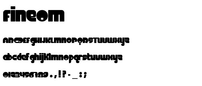 Fineom font