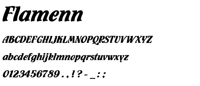 Flamenn font
