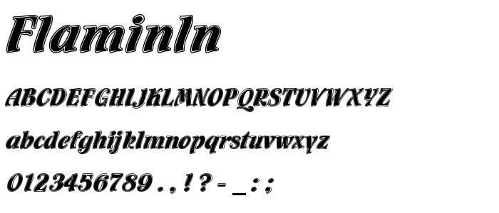 Flaminln font