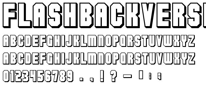 Flashbackversion3 font