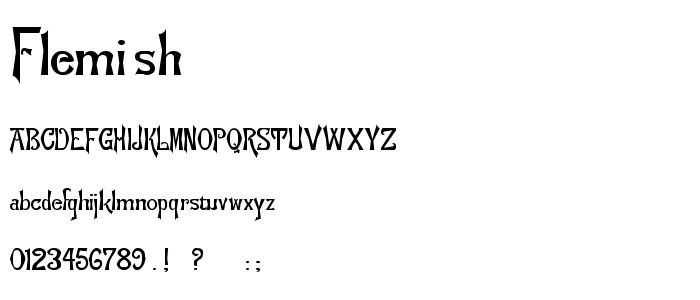 Flemish font