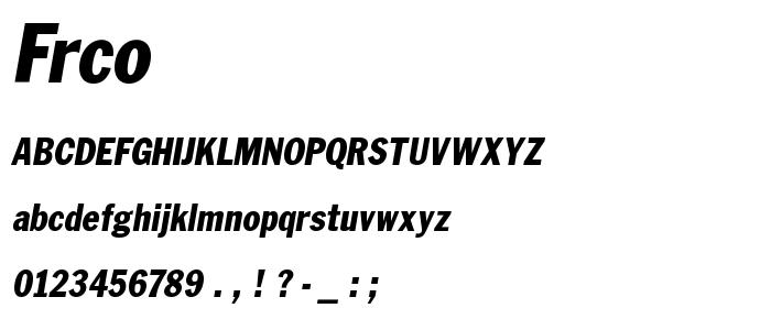 Frco font