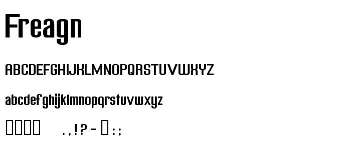 Freagn font