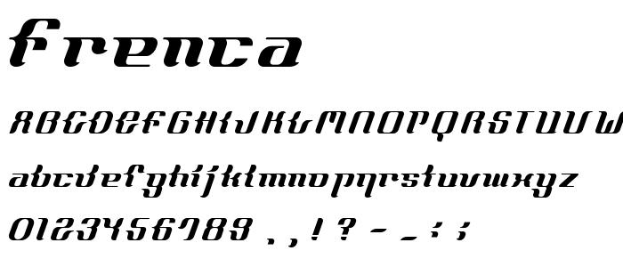 Frenca font