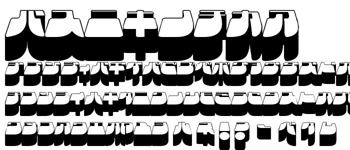 Frigkat3 font