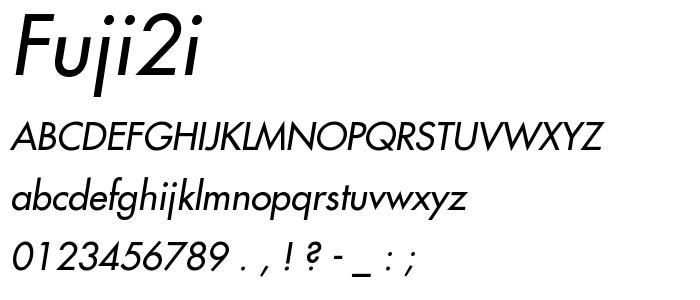 FUJI2I.TTF font