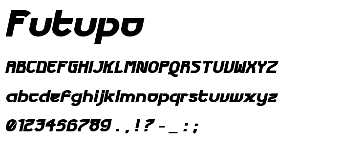 Futupo font