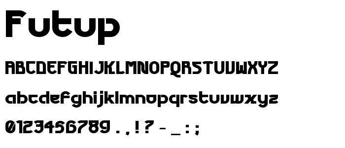 Futup font