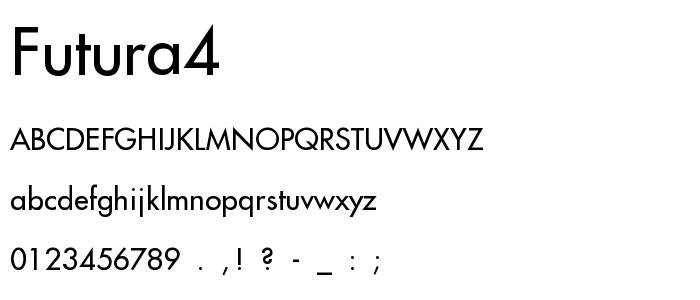 Futura4 font