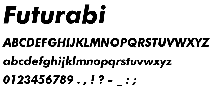Futurabi font