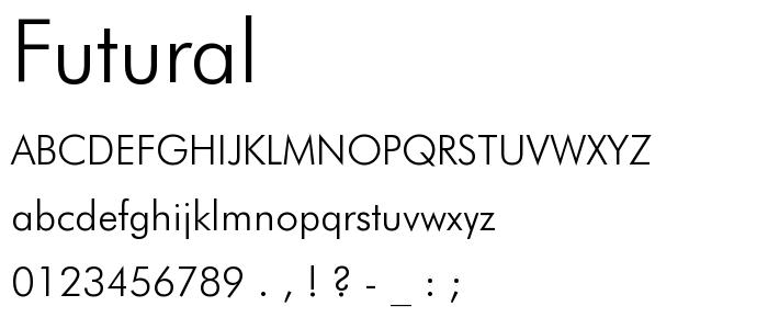 Futural font
