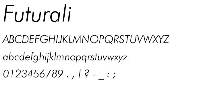 Futurali font