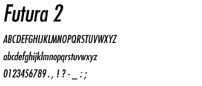 Futura 2 font