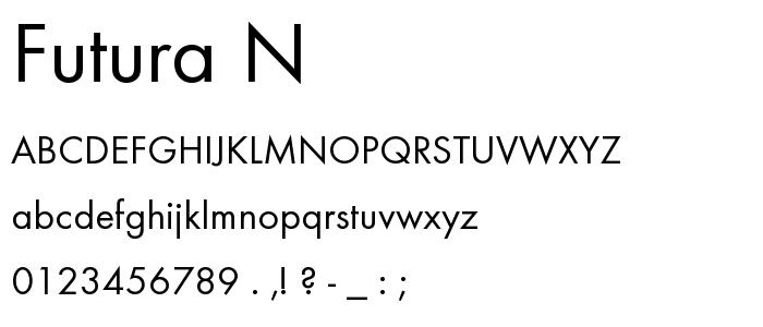 Futura N font