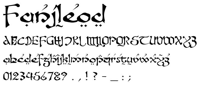Fanjleod font