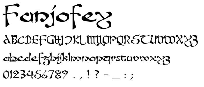 Fanjofey.ttf font