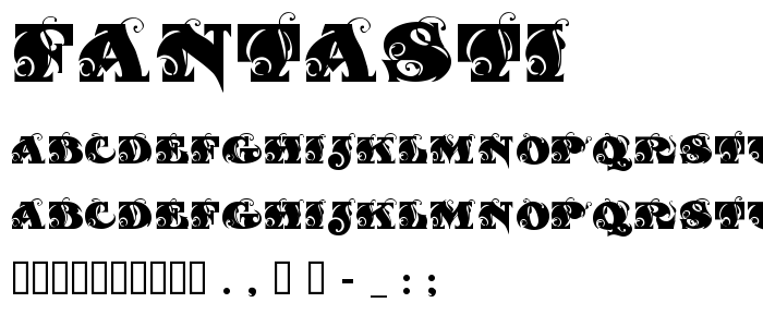 Fantasti font