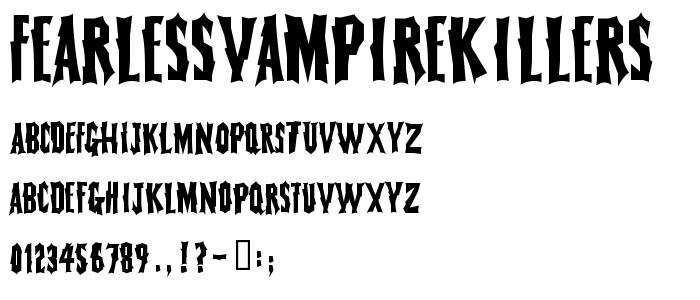 Fearlessvampirekillers font