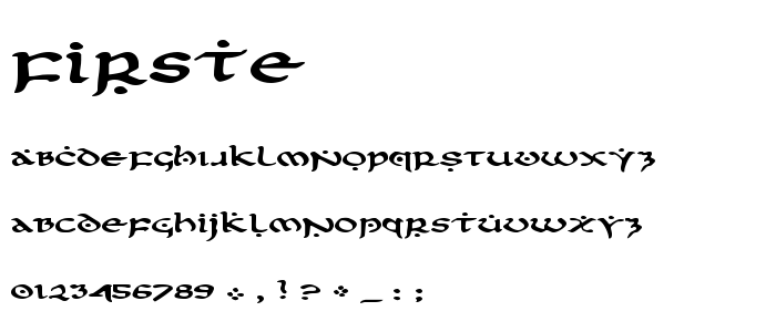 Firste font