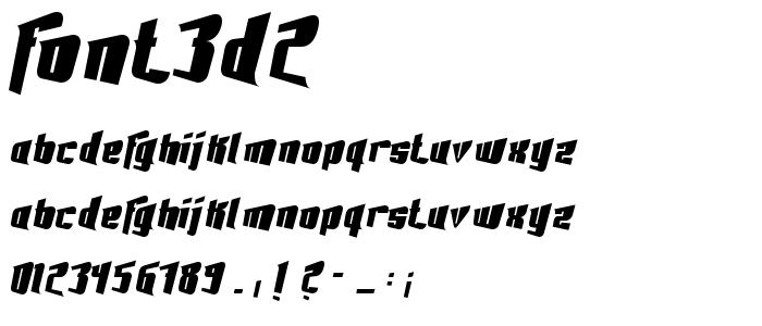 Font3d2 font