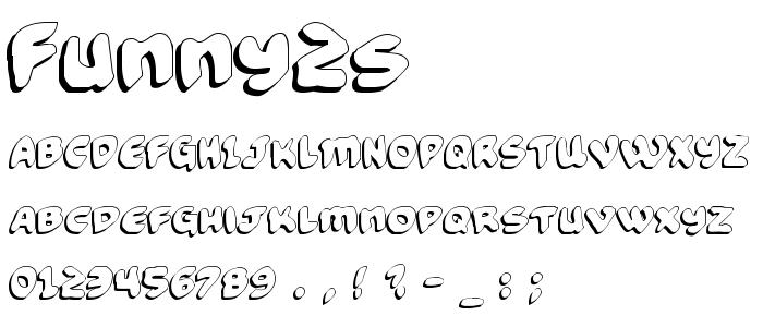 Funny2s font