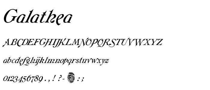 Galathea font