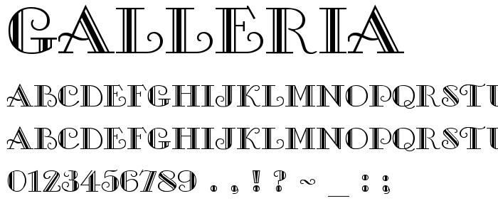 Galleria font