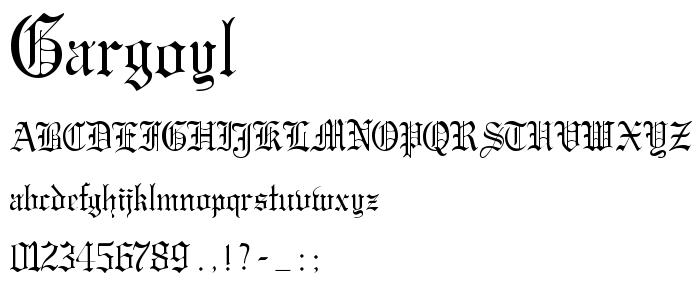 Gargoyl font