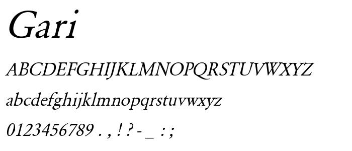Gari font