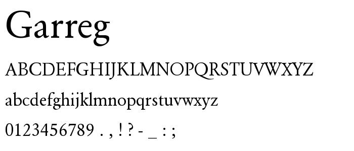 Garreg font