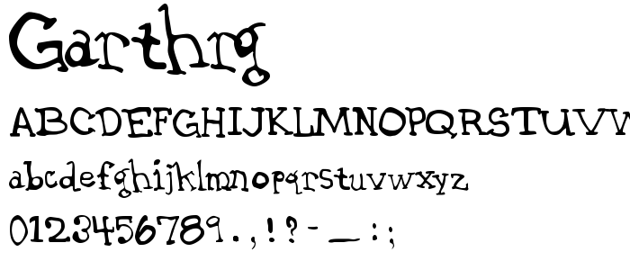 Garthrg font