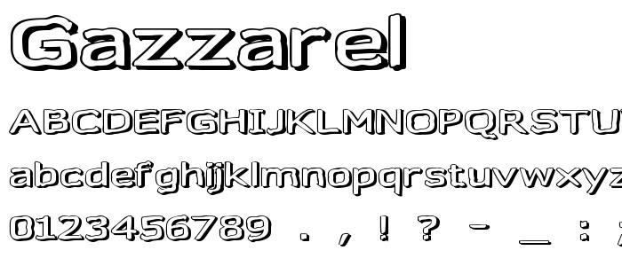 Gazzarel font